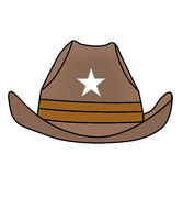 Simple drawn cowboy hat, illustration