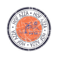 Regional council of Hof Azza, Israel vector stamp