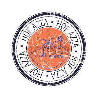 Regional council of Hof Azza, Israel vector stamp
