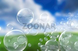 Seifenblasen Hintergrund