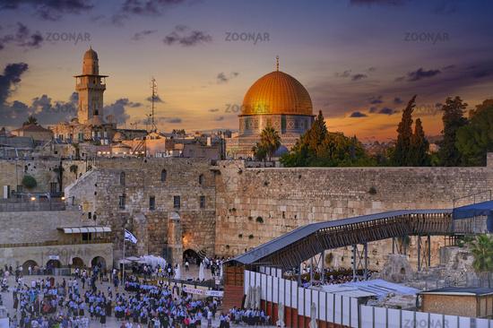 Jerusalem Israel. Dome of the rock