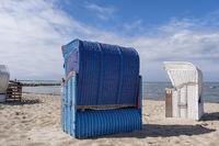 Strandkörbe am Strand von Utersum, Föhr