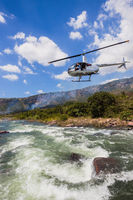 Helicopter River Rapids