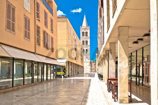Kaleralga,  famous street in Zadar architecture view