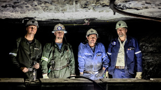 Northern Province, South Africa, 07/25/2011, Coal Miners working underground