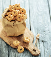 Taralli or tarallini, copy space
