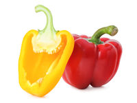 Fresh paprika (Capsicum) isolated on white background, including clipping path without shade. Germany