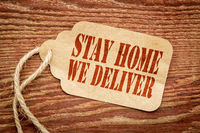 stay home we deliver - price tag