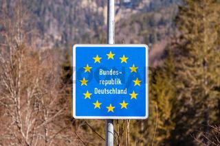 Grenzschild Bundesrepublik Deutschland