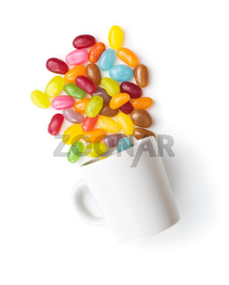 Fruity jellybeans. Tasty colorful jelly beans.