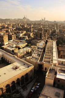 View of old Cairo form Mosque minaret