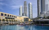 Popular location near singing fountains and Burj Khalifa. Clear Sunny day March 13, 2020