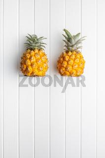 Ripe baby pineapple. Mini pineapple.