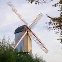Historic windmill, Bruges, Belgium