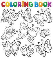 Coloring book various butterflies theme 1