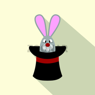 Rabbit appearing from a top magic hat