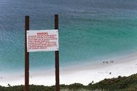 Falklandinseln, Minenwarnschild