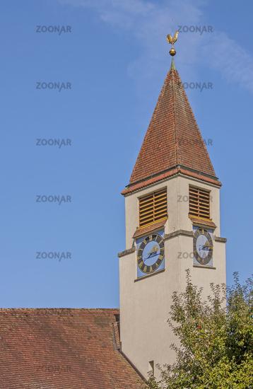 Evangelische Kirche Mammern, Kanton Thurgau, Schweiz