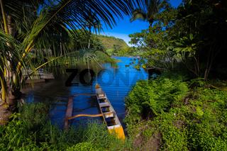 Outrigger Canoe in Polynesian village