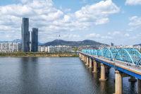 namsan tower and han river