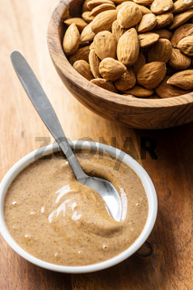 Almond spread. Almonds and butter.