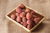 Litchi chinensis in a basket