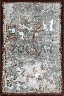 Grunge wall with rusty frame