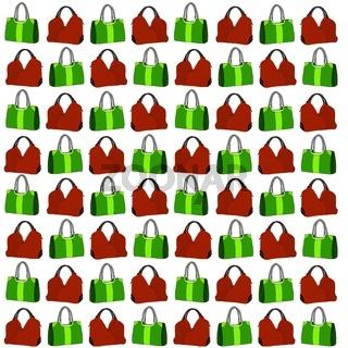 Muster mit gezeichneten Handtaschen