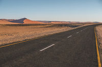 empty highway in Namibia