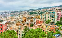 Castelletto district in Genoa