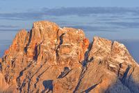 Alpengluehen in den Dolomiten