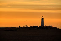 Santa Cruz Breakwater Light (Walton Lighthouse) at sunrise