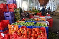 Gemüse im Bandabulya Städtischer Markt Nord-Nokosia