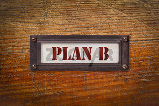 plan B - change of business and personal plans