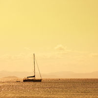 Sailboat in the sea