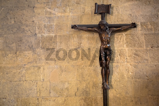 Crucifix with Jesus Christ, Christian symbol of resurrection and salvation