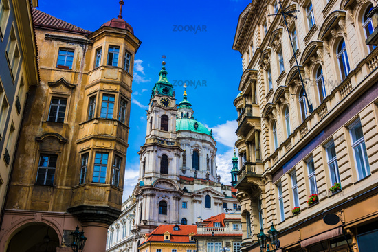 Historic architecture of downtown Prague
