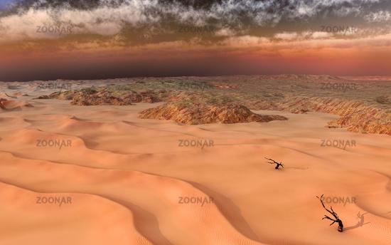 Sandsturm in der Atacamawüste