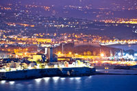 French riviera. Historic town of Antibes coastline and landmarks evening view