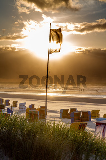 Sonnenuntergang am Strand von Juist