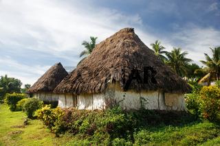 Traditional houses of Navala village, Viti Levu, Fiji