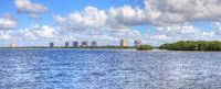 Panoramic of Estero Bay with its mangrove islands in Bonita Springs