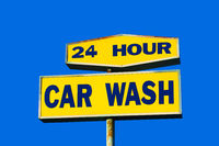 Worn Car Wash Sign