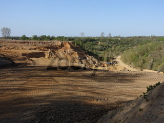 Kiesgrube Bliesheim,  Abbau von Sand und Kies
