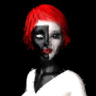 Artistic 3D illustration of a fantasy female