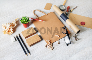 Kraft blank stationery