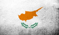 the Republic of Cyprus National flag. Grunge Background