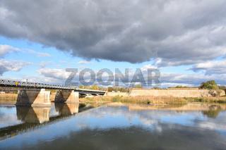 Blick auf die Oder bei Kuestrin