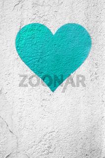 Turquoise urban Heart