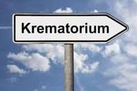 Wegweiser Krematorium | signpost Krematorium (Crematorium)